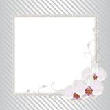 Bloemenkader met parels Stock Afbeeldingen