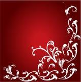 Bloemenkader in rood Royalty-vrije Stock Fotografie
