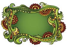 Bloemenkader van het fantasie het vectorsprookje Stock Afbeelding