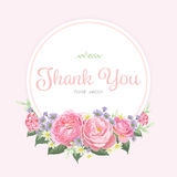 Bloemenkader van roze roze bloemen Royalty-vrije Stock Afbeelding