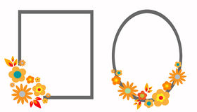 Bloemenkaders vector illustratie