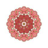 Bloemenkantmotieven mandala Stock Afbeelding
