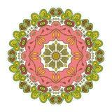 Bloemenkantmotieven mandala Royalty-vrije Stock Afbeeldingen