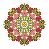 Bloemenkantmotieven mandala Stock Foto's