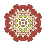 Bloemenkantmotieven mandala Royalty-vrije Stock Afbeelding