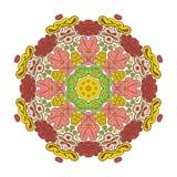 Bloemenkantmotieven mandala Stock Afbeeldingen