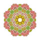 Bloemenkantmotieven mandala Royalty-vrije Stock Fotografie