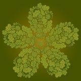 Bloemenkrabbelachtergrond in groene kleur Royalty-vrije Stock Afbeeldingen