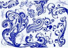 Bloemenkrabbels Stock Afbeelding
