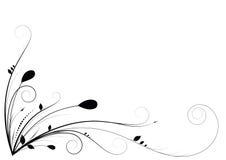 Bloemenkrommen en wervelingen Stock Afbeeldingen