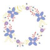 Bloemenkroon decoratieve illustratie Stock Afbeeldingen