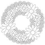 Bloemenkroon kleurende pagina Royalty-vrije Stock Afbeeldingen