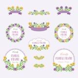 Bloemenkroon van Mooi Bloemenontwerp royalty-vrije illustratie
