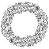 Bloemenkroonkader stock illustratie