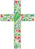 Bloemenkruis royalty-vrije illustratie