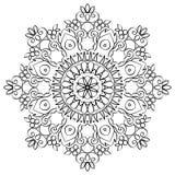Bloemenmandala round pattern vector illustratie