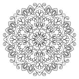 Bloemenmandala round pattern stock illustratie