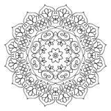 Bloemenmandala round pattern royalty-vrije illustratie