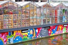 Bloemenmarkt, Amsterdam Stockfotos