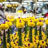 Bloemenmarkt in Bangkok, Thailand stock afbeelding