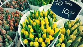 Bloemenmarkt blommamarknad fotografering för bildbyråer