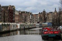 Bloemenmarkt (Blumen-Markt) Amsterdam Stockbild