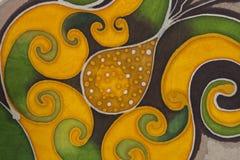 Bloemenmotief Textielachtergrond Stock Afbeeldingen