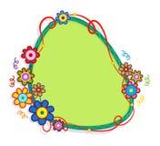 Bloemennota Stock Afbeelding