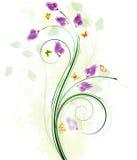 Bloemenontwerp als achtergrond Stock Foto's