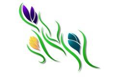 Bloemenontwerp - de Digitale Illustratie van het Bloempatroon stock illustratie