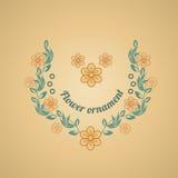 Bloemenornament Royalty-vrije Stock Afbeelding