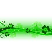 Bloemenornament in groene kleuren Stock Foto