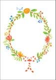 Bloemenornament met de lentesymbool royalty-vrije illustratie