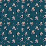 Bloemenornament van tulpen Royalty-vrije Stock Afbeelding