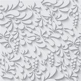 Bloemenornament vectorpatroon als achtergrond Stock Fotografie
