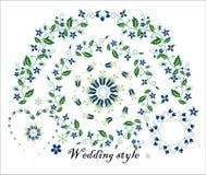 Bloemenornament voor huwelijksdecoratie Stock Afbeeldingen