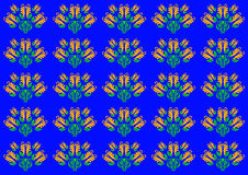 Bloemenornamenten Stock Afbeelding