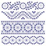 Bloemenornamentgrenzen Royalty-vrije Stock Afbeelding