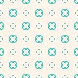 Bloemenornamentpatroon Turkooise en beige uitstekende textuur Stock Afbeeldingen