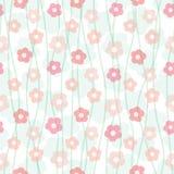 Bloemenpastelkleur naadloos patroon Stock Foto's