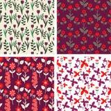 Bloemenpatronen Stock Fotografie