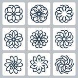 Bloemenpatronen vectorpictogrammen Royalty-vrije Stock Foto