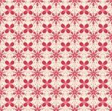 Bloemenpatroon in beige en rode kleuren Stock Afbeeldingen