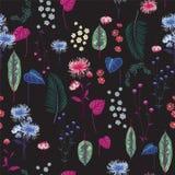 In Bloemenpatroon in de kleine bloem botanisch Motievensc Stock Foto