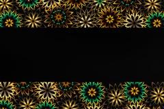 Bloemenpatroon en exemplaarruimte Stock Afbeeldingen