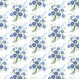 Bloemenpatroon met blauwe bloemen vector illustratie