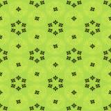 Bloemenpatroon met geometrische elementen Royalty-vrije Stock Afbeeldingen