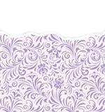 Bloemenpatroon met gescheurd document royalty-vrije illustratie