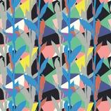 Bloemenpatroon met heldere bladeren en geometrisch motief vector illustratie