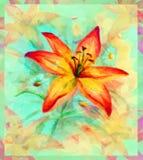 Bloemenpatroon met Lily Flower Stock Foto